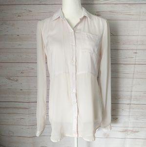 Free People Sheer Tunic Button Down Shirt Size XS